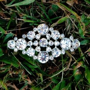 Antique Paste Rhinestone Crystal Pendant/Brooch